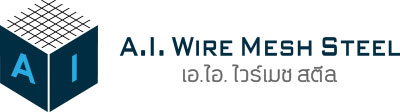 A.I. Wire Mesh Steel Logo